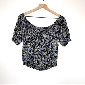 Free People Off the shoulder Floral Blouse